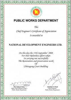 PWD-Chief Engineers Ceritficate